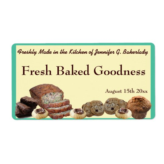 Fresh Baked Goods Variety Packaging Version 2 Shipping Label