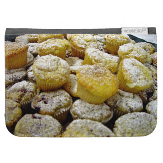 Fresh baked  muffins on a plate kindle case