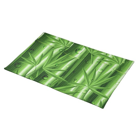 Fresh Bamboo with Dew Placemats