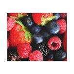 Fresh berries canvas prints