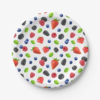 Fresh berries paper plate