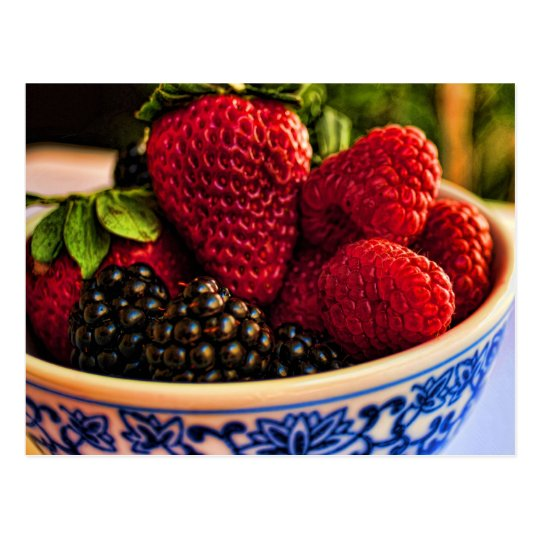 Fresh Berries Postcard