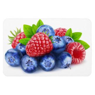 Fresh berries rectangular photo magnet