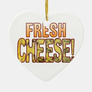 Fresh Blue Cheese Ceramic Heart Decoration