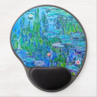 Fresh Blue Water Lily Pond Monet Fine Art Gel Mouse Pad