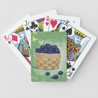 Fresh Blueberries Bicycle Playing Cards