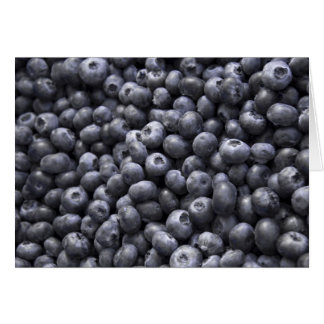 Fresh blueberries greeting cards