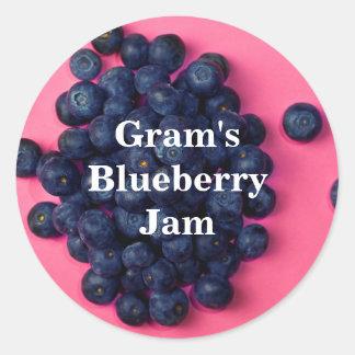 Fresh Blueberries Custom Blueberry Jam Classic Round Sticker
