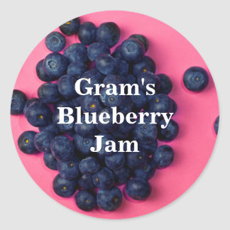 Fresh Blueberries Custom Blueberry Jam Round Sticker