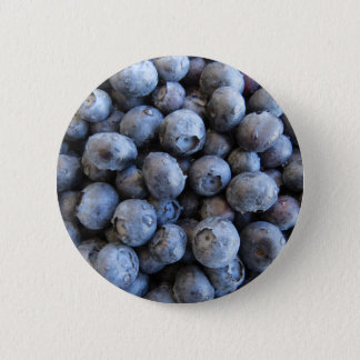 Fresh Blueberries Photograph 6 Cm Round Badge