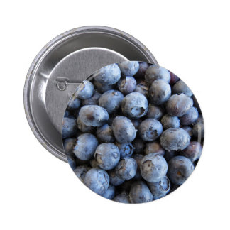 Fresh Blueberries Photograph 6 Cm Round Badge
