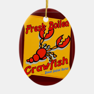 Fresh Boiled Crawfish Christmas Ornament
