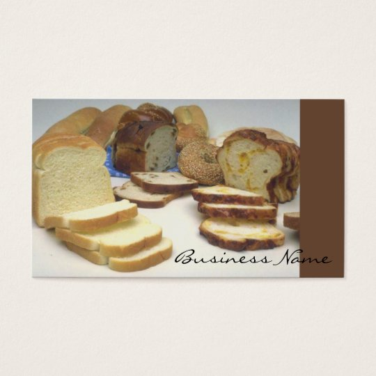 Fresh bread business card