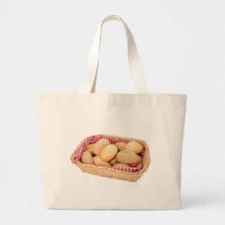 Fresh bread rolls tote bags