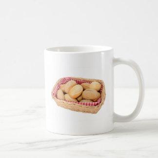 Fresh bread rolls coffee mug