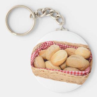 Fresh bread rolls key ring