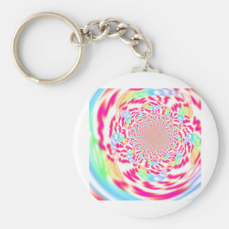 Fresh, bright and bubbly fractal art key ring