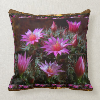 Fresh CACTUS Cacti Flower: Wild Exotic Floral Show Pillows