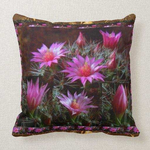 Fresh CACTUS Cacti Flower: Wild Exotic Floral Show Pillows