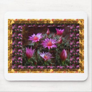 Fresh CACTUS Cacti Flower: Wild Exotic Floral Show Mouse Pads