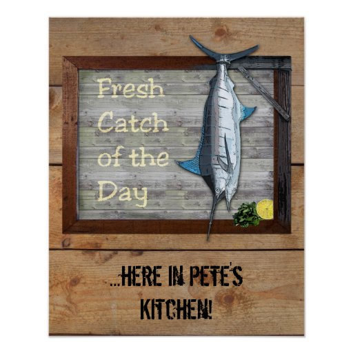 Fresh Catch of the Day (customisable) Poster