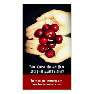 Fresh Cherries Cherry Orchard Fruit Growers Business Card Templates