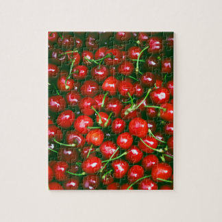 Fresh Cherries pattern Jigsaw Puzzle