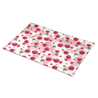 Fresh cherry pattern fruit kitchen placemat