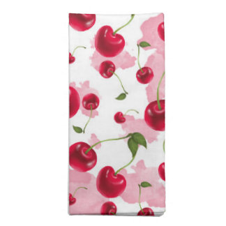 Fresh cherry pattern kitchen napkins
