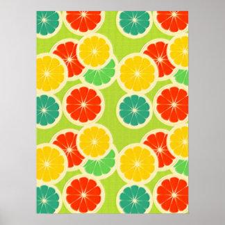 Fresh Citrus Fruit Design, Cute Colorful Poster