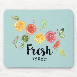 Fresh -  Citrus Fruits in Watercolor Mouse Mat