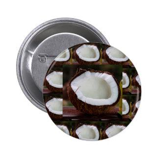 Fresh Coconut chefs healthy flavour cuisine foods 6 Cm Round Badge