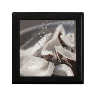 fresh coconut in the street small square gift box