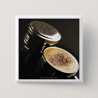 fresh coffee 15 cm square badge