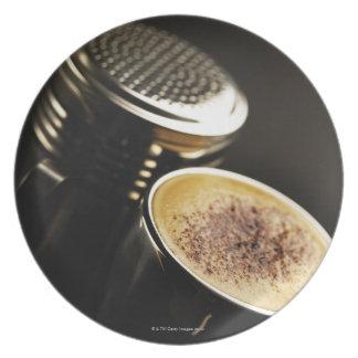 fresh coffee plate