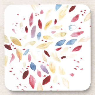Fresh colourful leaves drink coaster