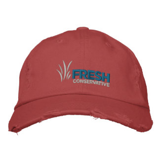 Fresh Conservative Logo Distressed Hat Embroidered Baseball Cap