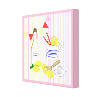 Fresh Cool Summery Home Made Lemonade Canvas Print