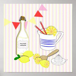 Fresh Cool Summery Home Made Lemonade Poster