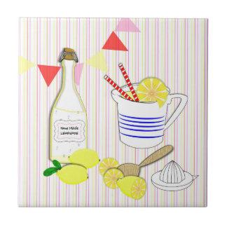 Fresh Cool Summery Home Made Lemonade Tile