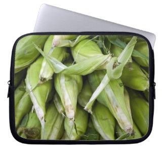 Fresh corn in market laptop sleeve