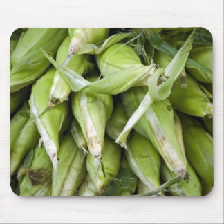 Fresh corn in market mouse pad