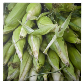 Fresh corn in market tile
