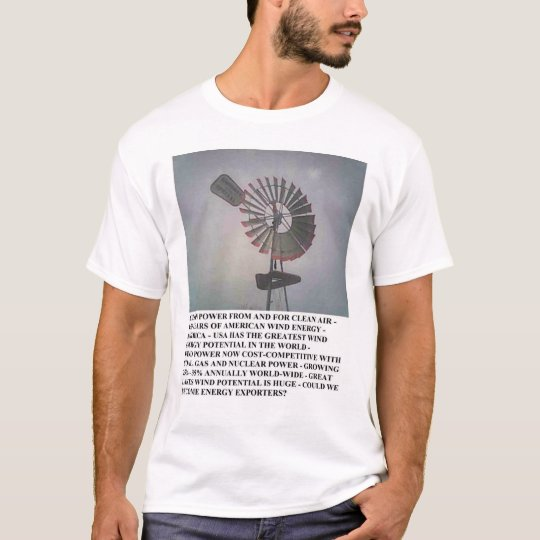 Fresh Country Air - Wind Energy T-shirt 1