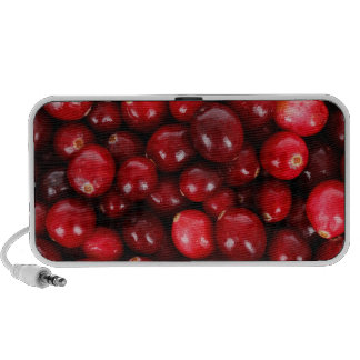 Fresh Cranberry Background Mp3 Speakers