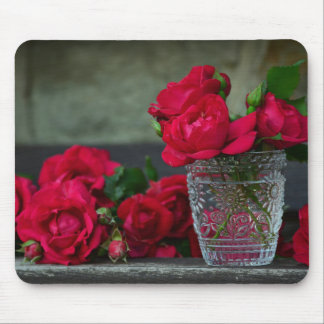 Fresh-Cut Red Roses Mouse Pad