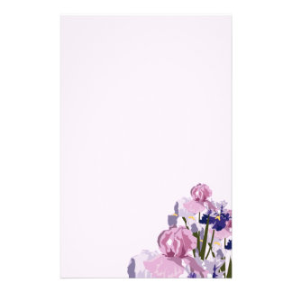 Fresh Cut Spring Irises Floral Stationery