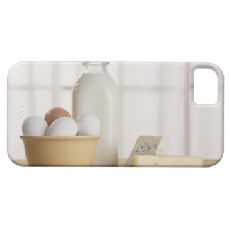 Fresh eggs cheese and milk on counter barely there iPhone 5 case