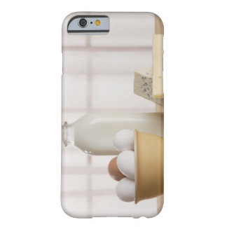 Fresh eggs cheese and milk on counter barely there iPhone 6 case