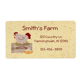 Fresh Eggs Custom Label Shipping Label